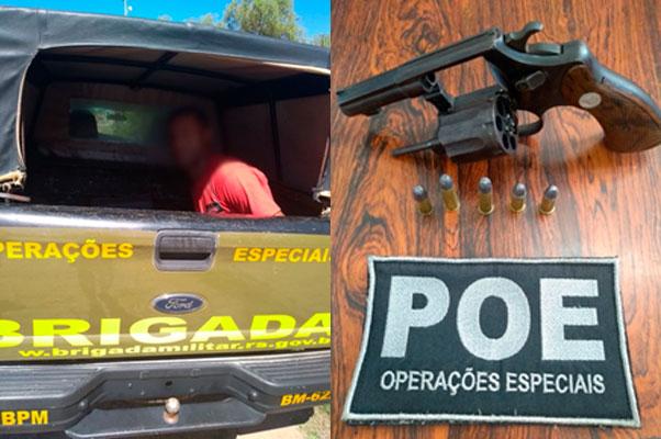 Videomonitoramento auxilia em prisão de suspeito armado