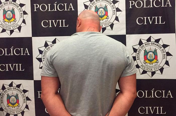 Polícia predeu indiciado por homicídio na praça em Tapes