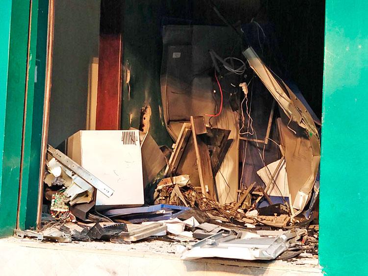 Criminosos explodiram caixa eletrônico em Cerro Grande do Sul
