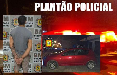 Brigada Militar prende jovem com veículo roubado