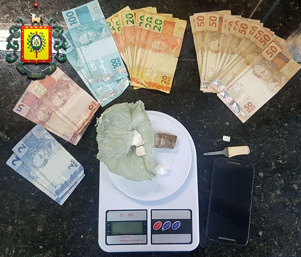 Traficante foi preso no bairro Bom Sucesso