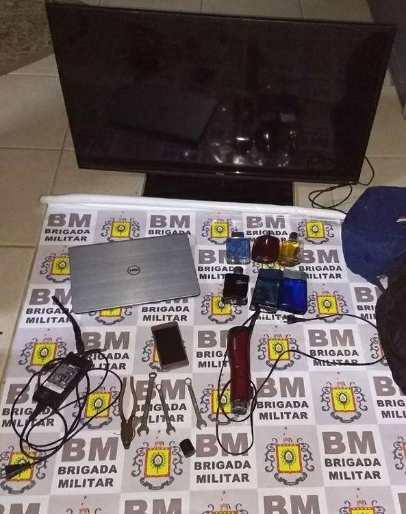 BM apreende menor e recupera objetos furtados em Chuvisca