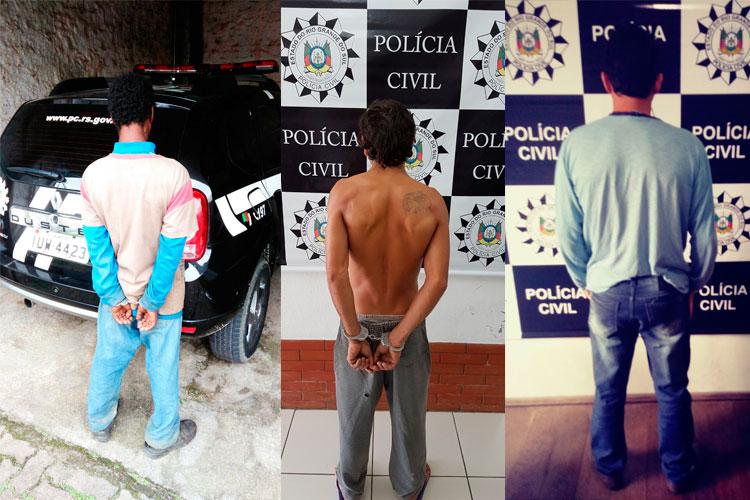Polícia Civil prende três homens em cumprimento de mandados na região
