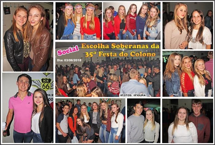 Social Domingueira da Escolha das Soberanas da 35ª Festa do Colono