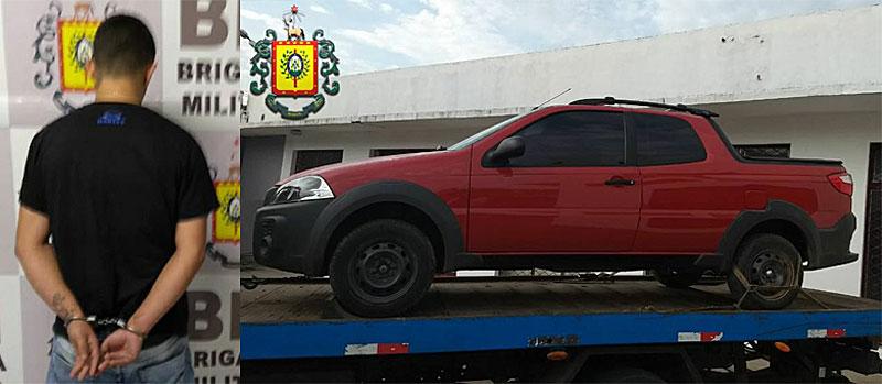 Brigada Militar de Camaquã prende indivíduo por receptação de veículo
