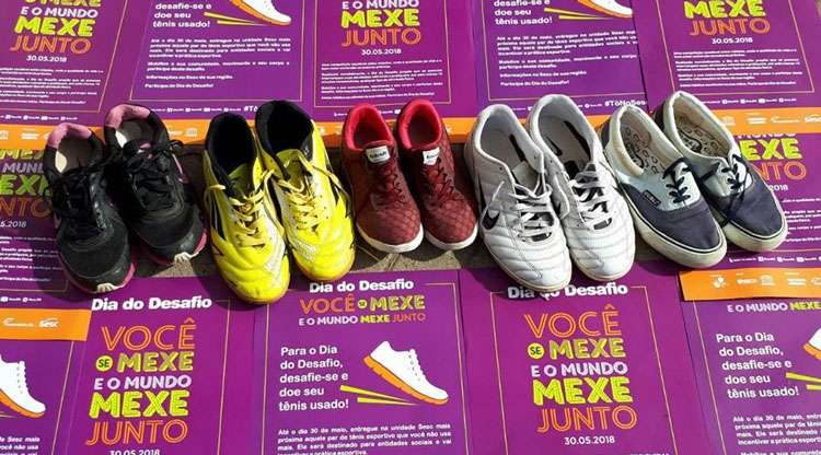 Campanha de doação de calçados segue até 27/06 em todo Estado