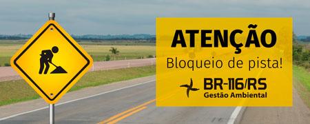 ATENÇÃO: Transferidos para quarta-feira (01/08) os bloqueios no km 470
