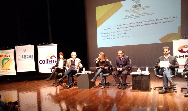 Rosseto, Jairo Jorge e Eduardo Leite garantem o fortalecimento dos Coredes e Comudes