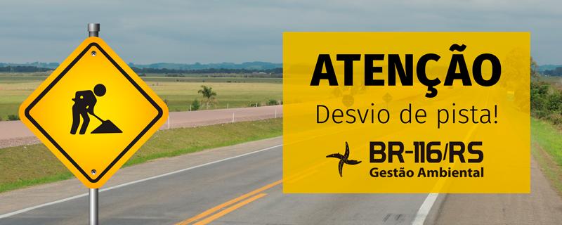 BR-116/RS terá desvio de trânsito em Camaquã