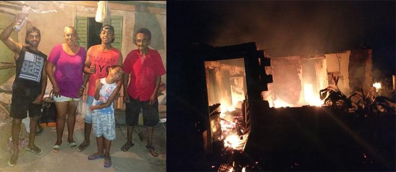 Comunidade se mobiliza em auxílio aos irmãos que perderam a casa em incêndio