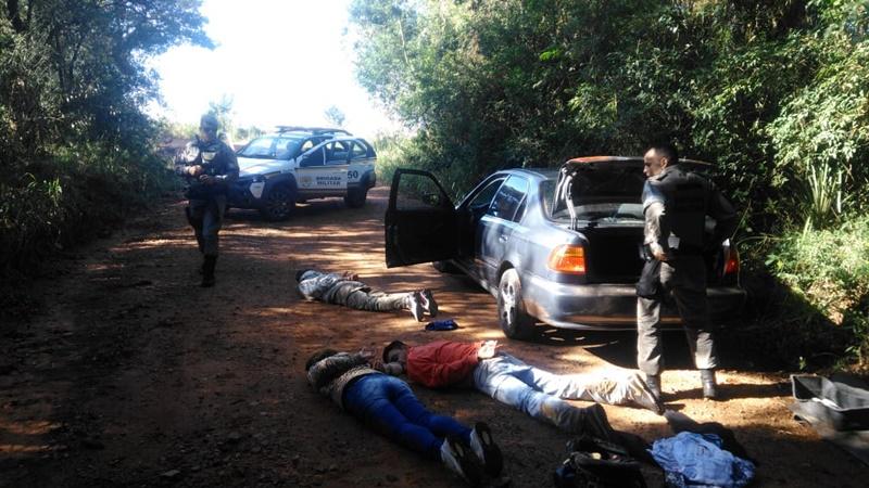Brigada Militar monta cerco e prende assaltantes em Barão do Triunfo