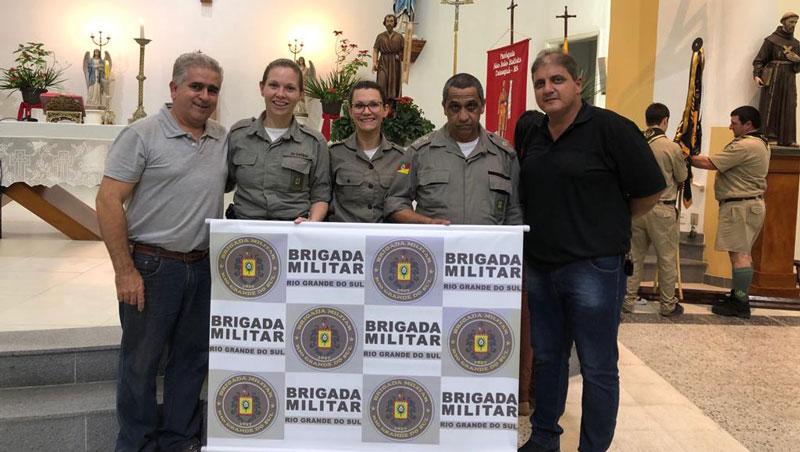 BM de Camaquã recebe homenagem na missa do padroeiro