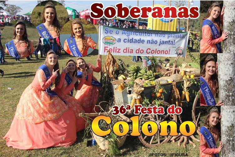 Soberanas da 36ª Festa do Colono em Camaquã