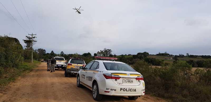Brigada Militar de São Lourenço do Sul encerra buscas aos assaltantes de banco