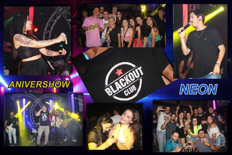 Anivershow Neon da Blackout Club