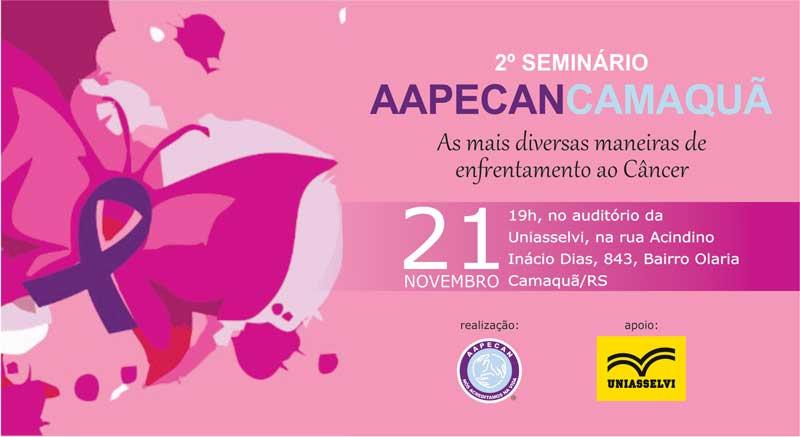 2° Seminário Aapecan Camaquã ocorre hoje à noite na Uniasselvi