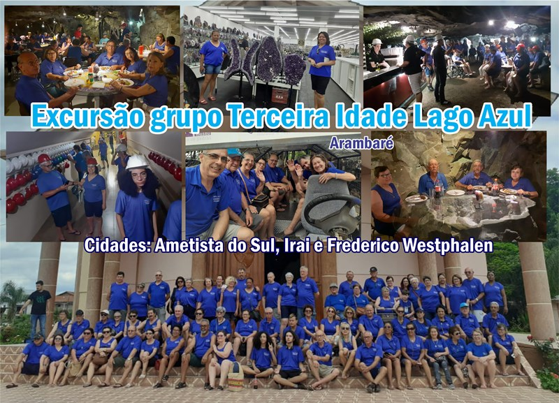 Fotos da Excursão do grupo da Terceira Idade lago Azul de Arambaré