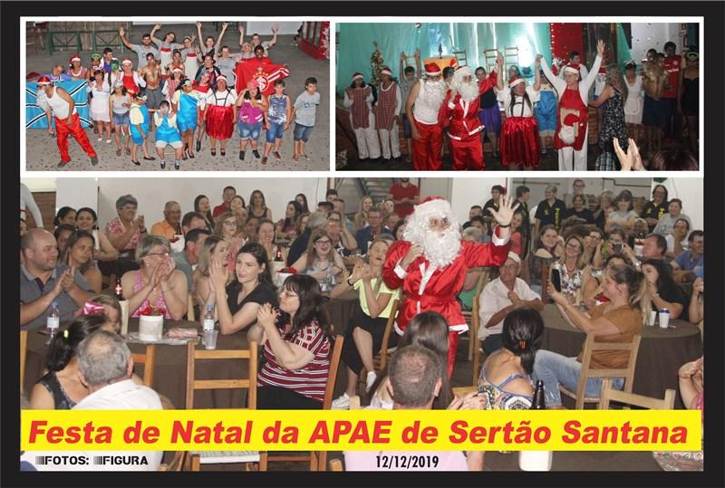 Fotos da Festa de Natal da APAE  de Sertão Santana