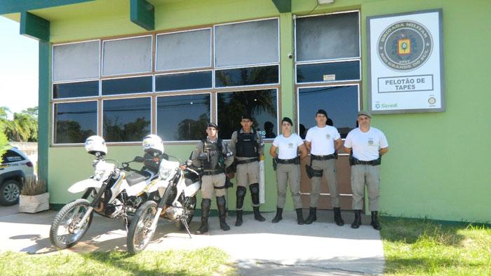 Reforço policial chega a Tapes e Arambaré para atuar na Operação Golfinho 2019/2020